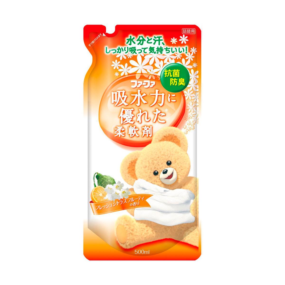 Кондиционер для детского белья Nissan FaFa Цитрусовые фрукты 500 мл запасной блок<br>
