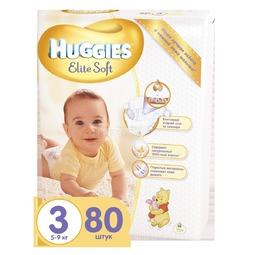 Подгузники Huggies Elite Soft Mega Pack 5-9 кг (80 шт) Размер 3