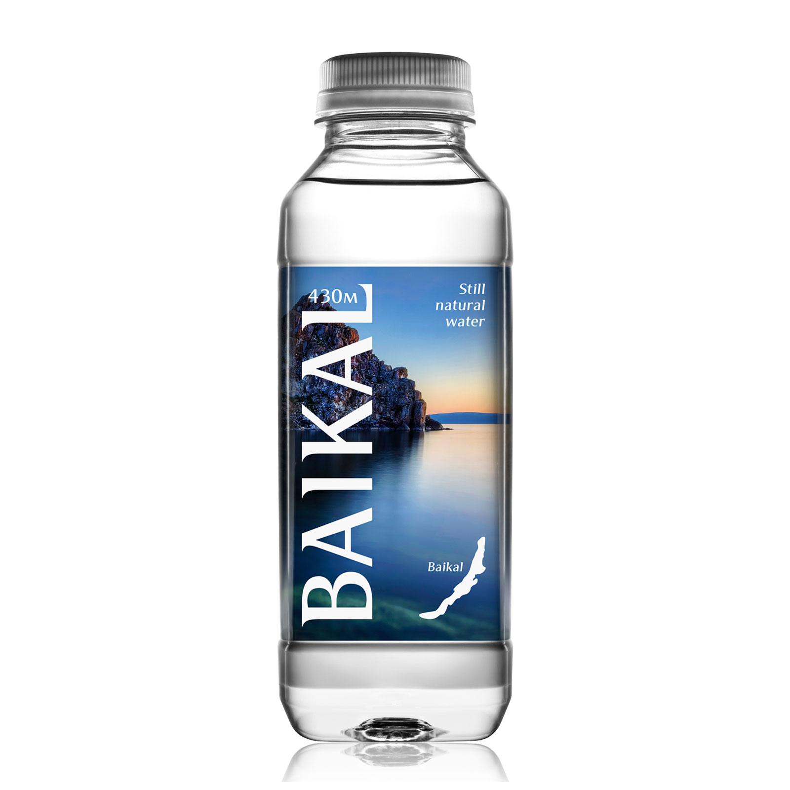 Вода питьевая Байкальская глубинная Негазированная 0,45 л (пластик)<br>