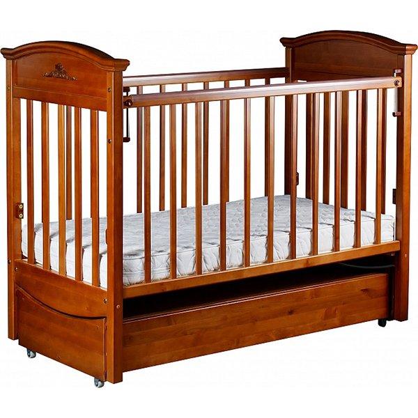 Кроватка  Наполеон  VIP маятник продольный Орех<br>