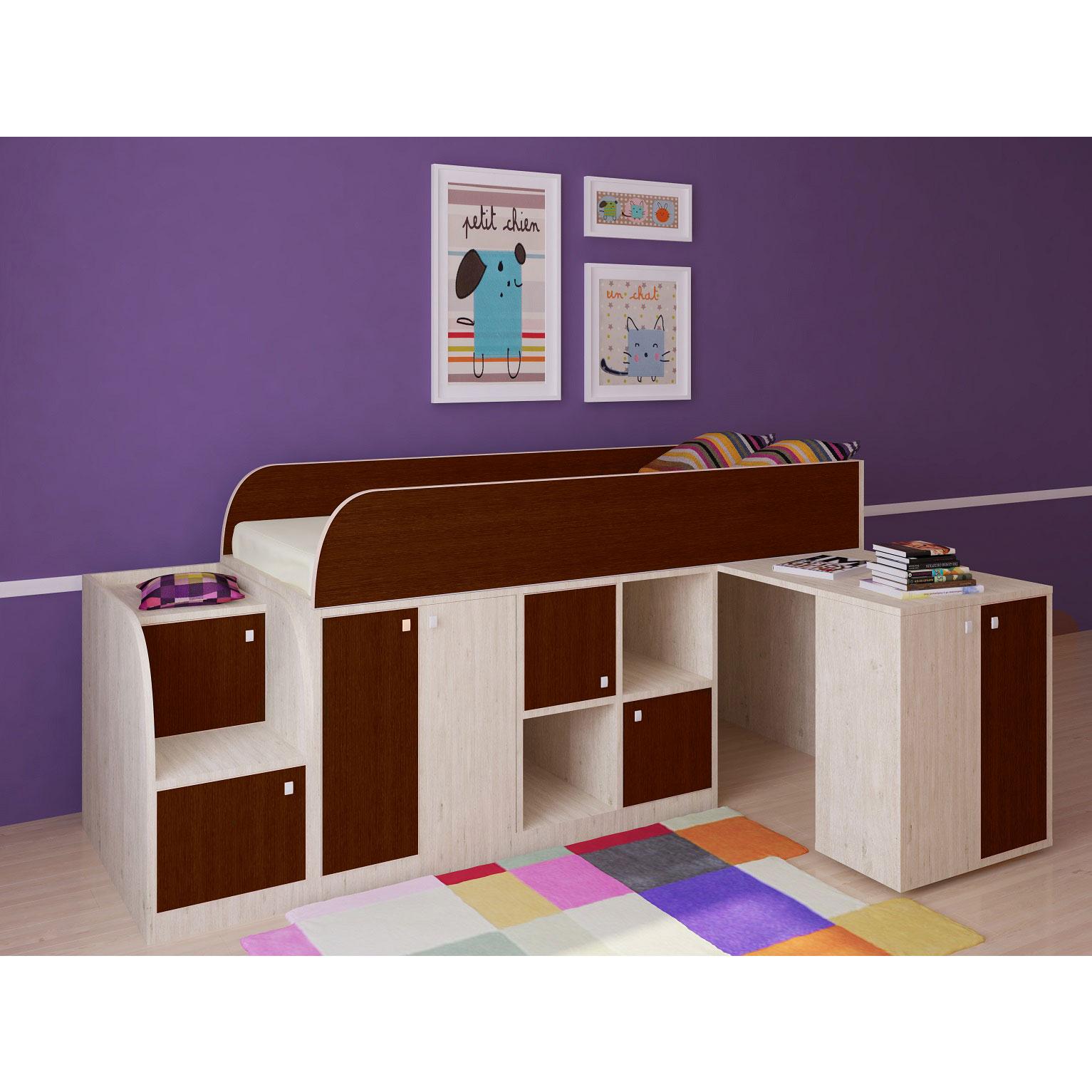 Набор мебели РВ-Мебель Астра мини Дуб молочный/Орех