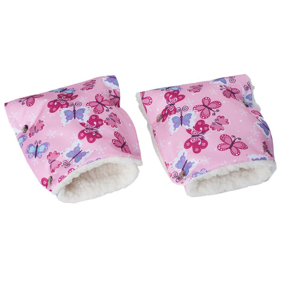 Муфты-рукавички Чудо-Чадо (Рисунок) меховые Бабочки<br>