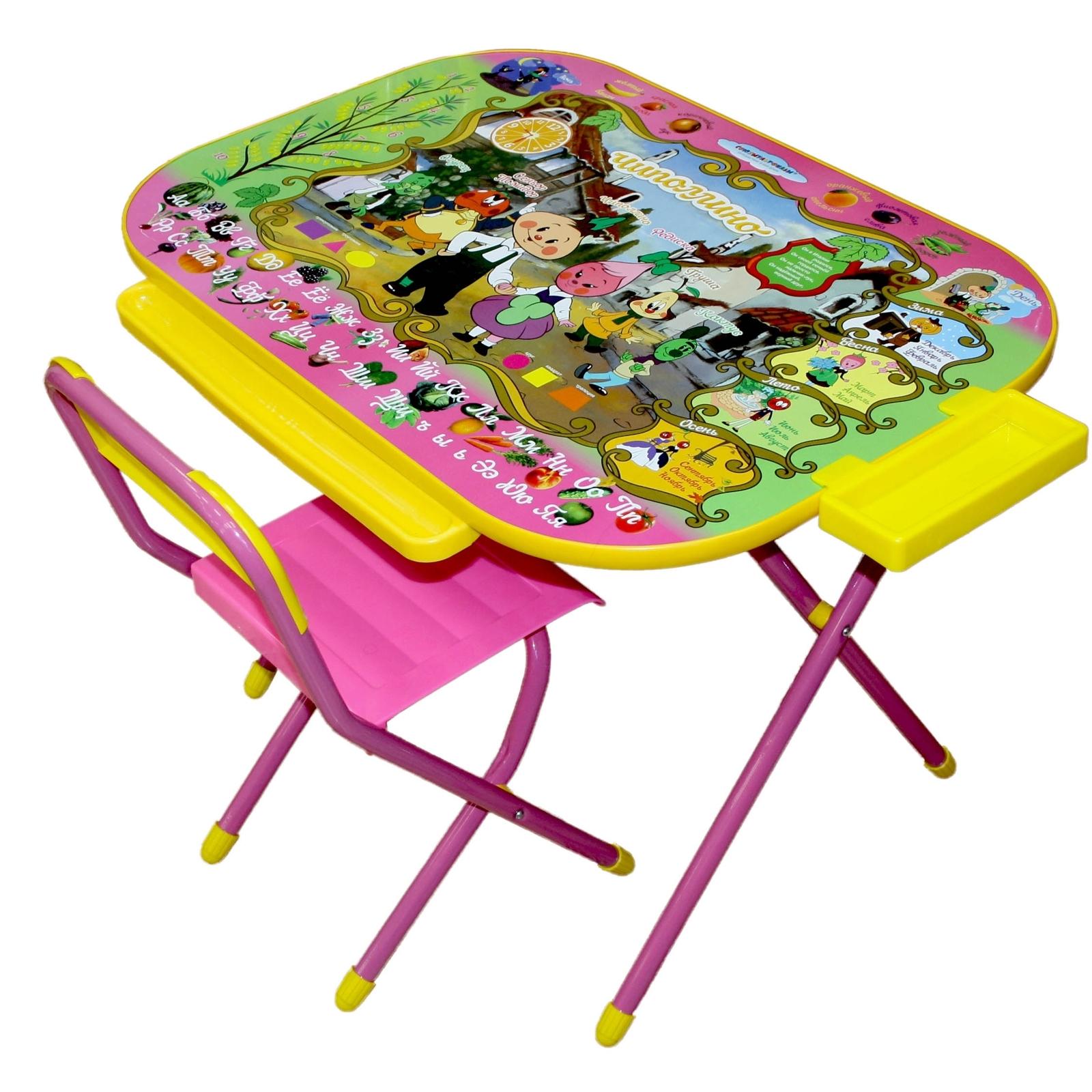 Набор мебели стол и стул Дэми Всезнайка Чиполино Розовый<br>