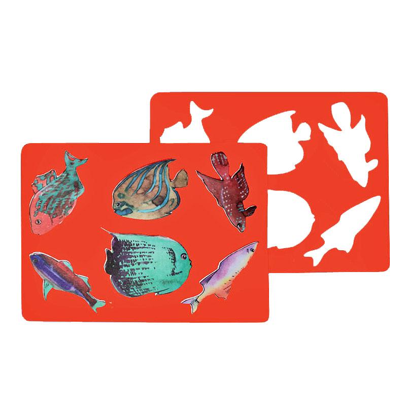 Трафарет Луч Аквариумные рыбки<br>