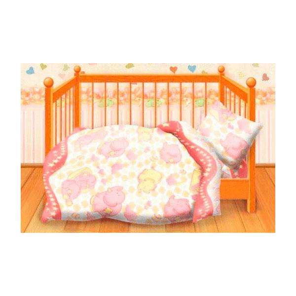 Комплект постельного белья детский бязь Непоседа Кошки-мышки КДКм-1 Спокойной ночи Розовый<br>