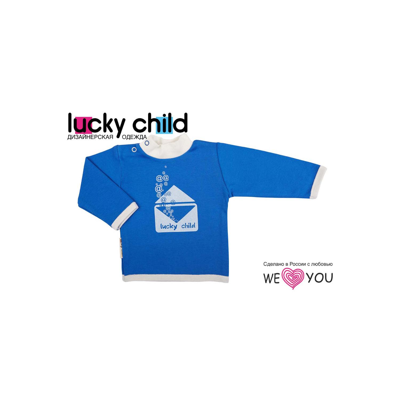 Водолазка Lucky Child Конвертик цвет синий с белым размер 74<br>