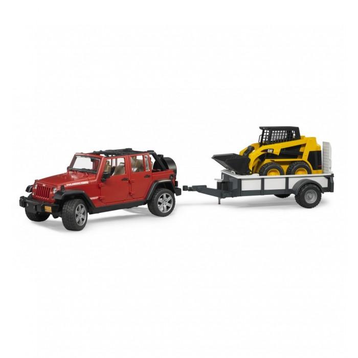 Внедорожник Bruder Jeep Wrangler С прицепом-платформой<br>