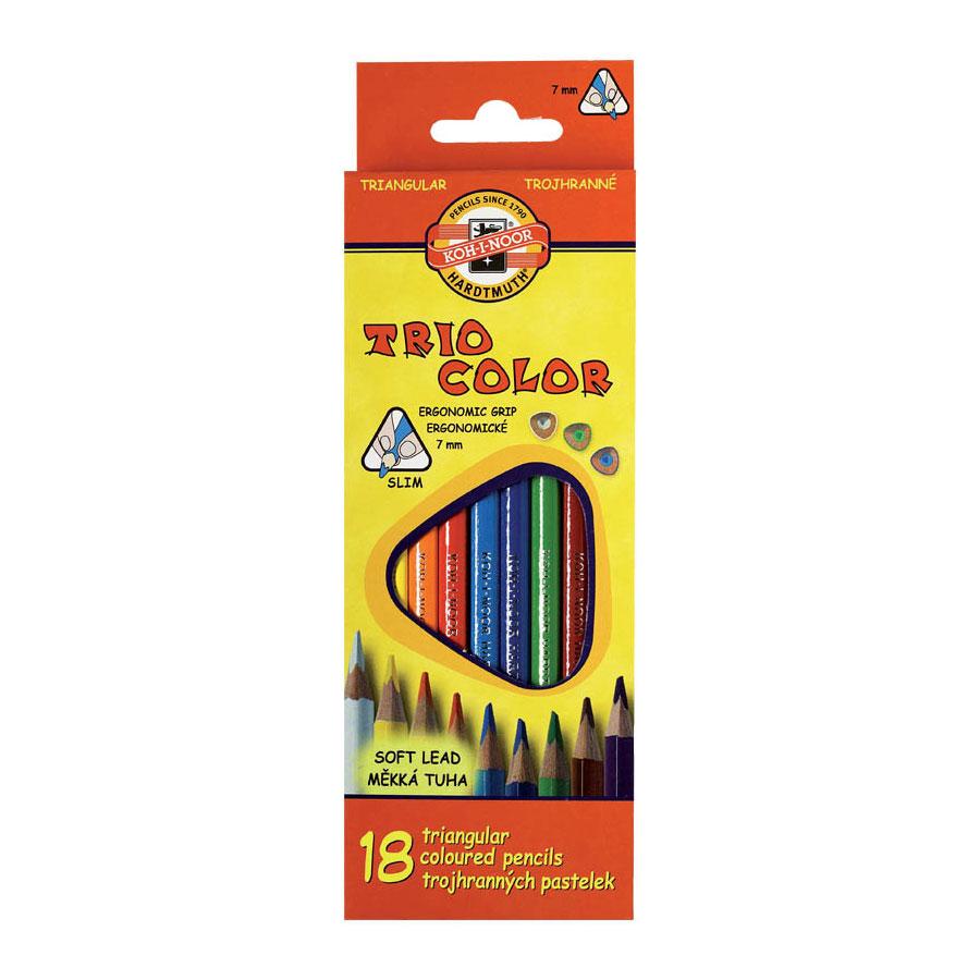 Набор карандашей цветных KOH-I-NOOR TRIOCOLOR 18 цветов<br>