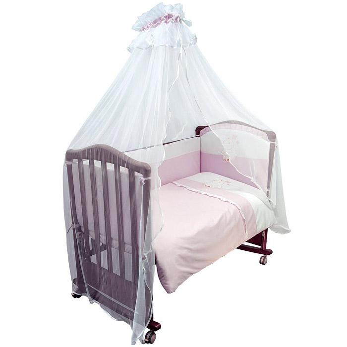 Комплект в кроватку Сонный гномик Пушистик Розовый<br>