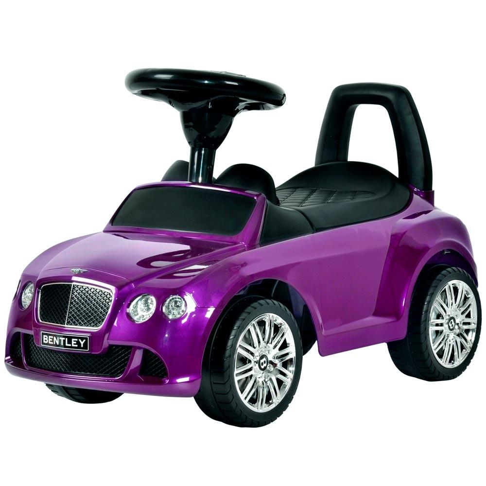 Каталка-автомобиль RT Bentley с музыкой Фиолетовая Металлик