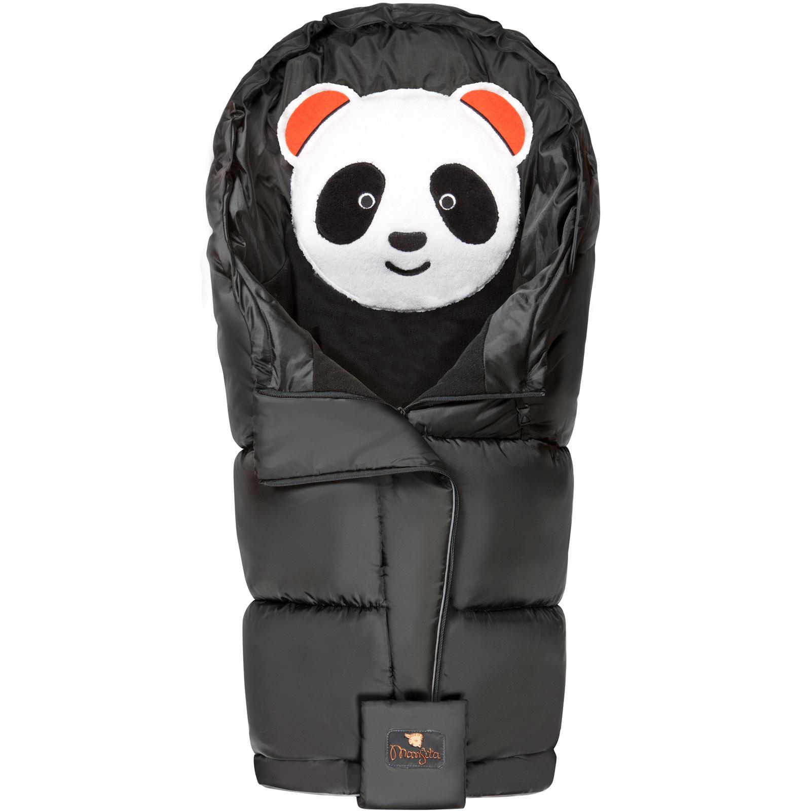Конверт Mansita Panda флис Черный<br>