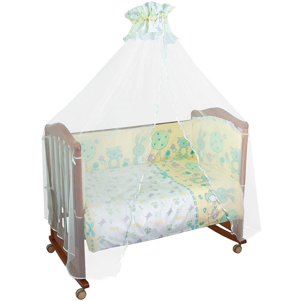 Комплект в кроватку Сонный гномик Акварель 7 предметов Бирюзовый<br>