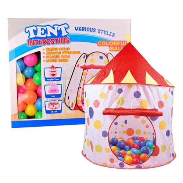 Игровая палатка YAKO Цирк с шарами 50 штук Y20206014<br>