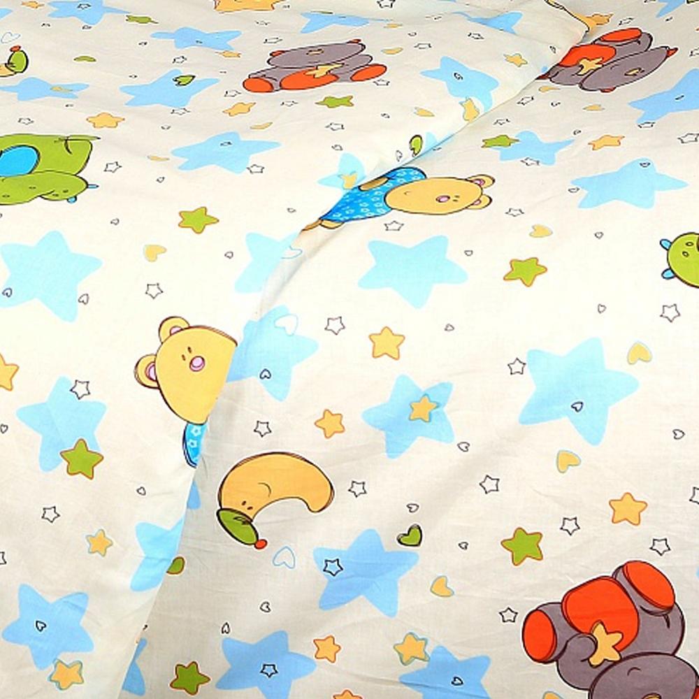 Комплект постельного белья  Споки Ноки бязь100% хлопок Звездопад (розовый, желтый, голубой)