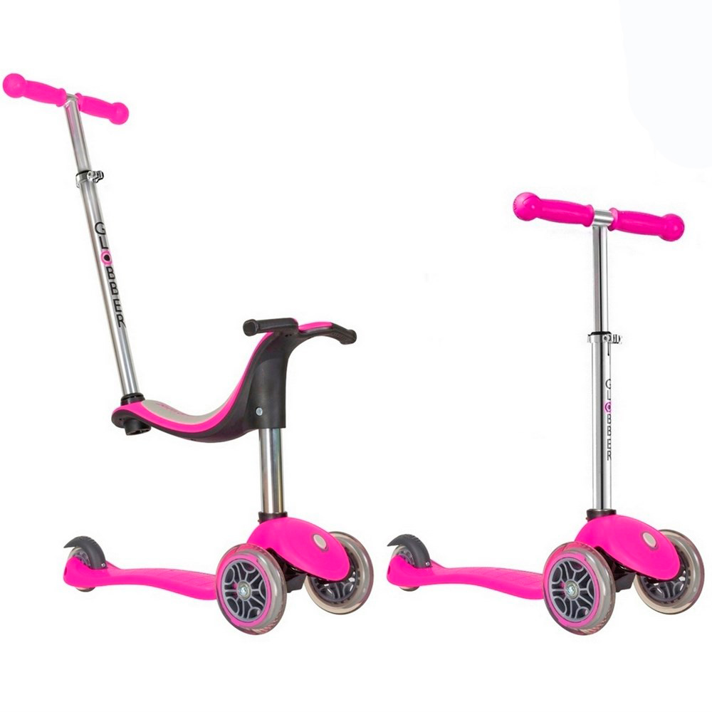 Самокат Y-SCOO RT Globber My free NEW Technology Seat 4in1 с блокировкой колес Pink<br>