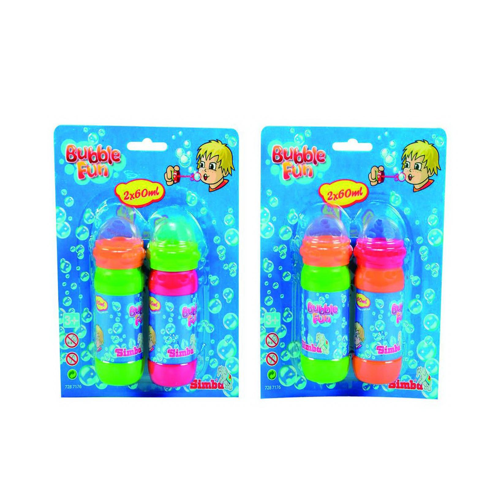 Игрушка для улицы Simba Набор мыльные пузыри Simba Bubble Fun от 3 лет. (2Х60 мл.)<br>