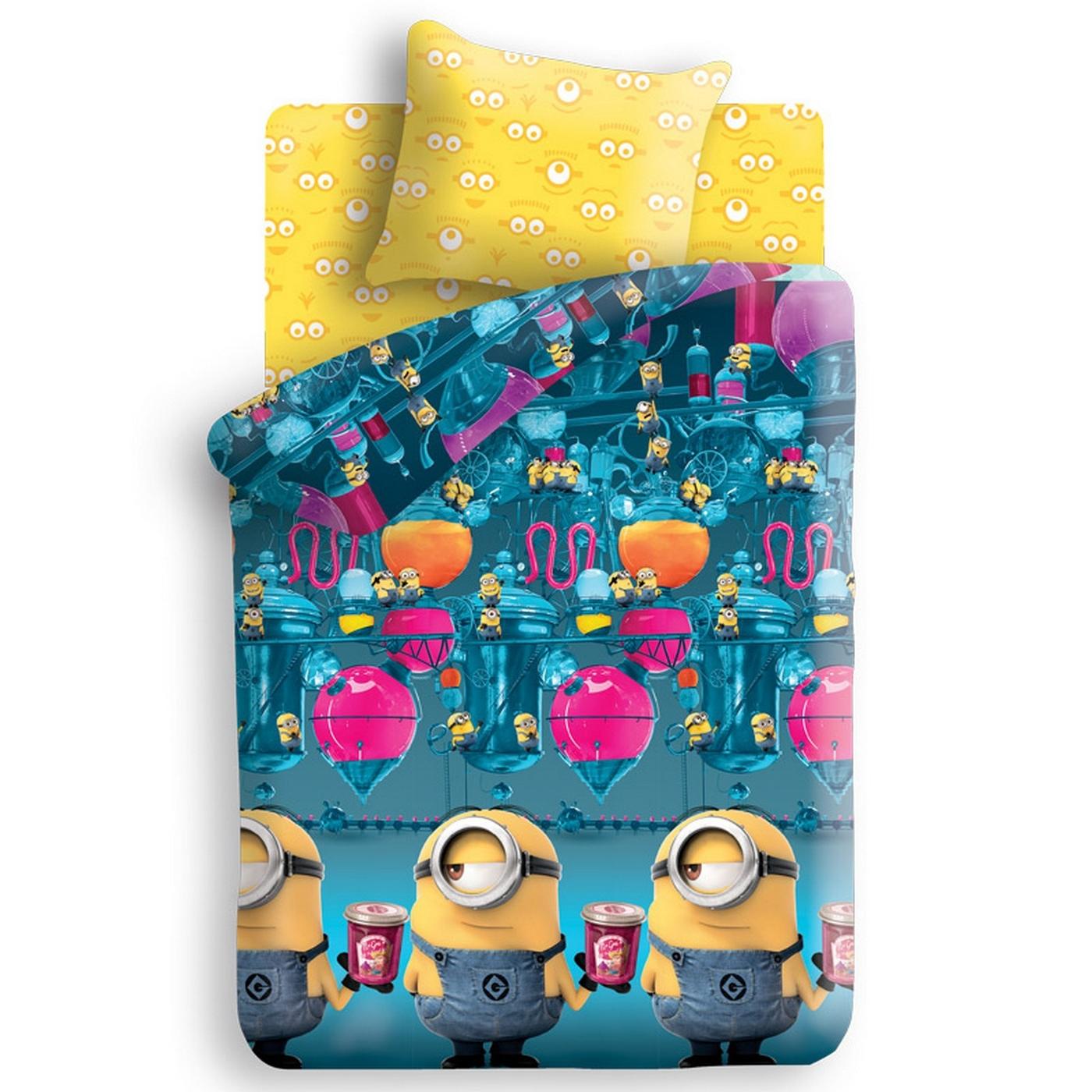 Комплект постельного белья детский 1.5 бязь Непоседа Миньоны с наволочкой 70х70 Фабрика