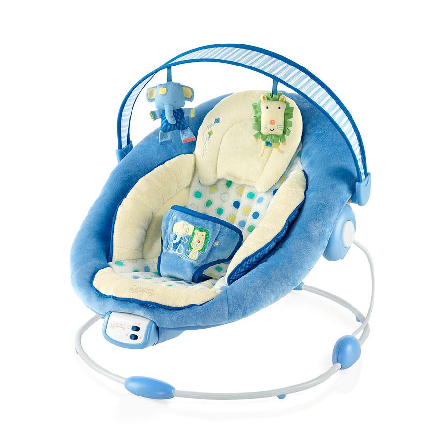 Кресло-качалка Bright Starts Комфорт и гармония Бежевое с голубым
