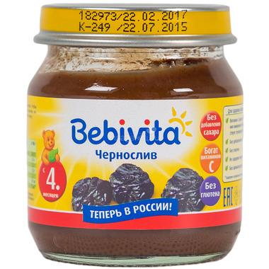 Пюре Bebivita фруктовое 100 гр Чернослив (с 4 мес)