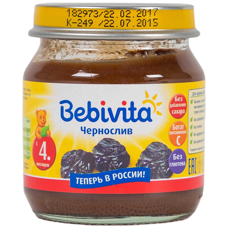 Пюре Bebivita фруктовое 100 гр Чернослив (с 4 мес)<br>