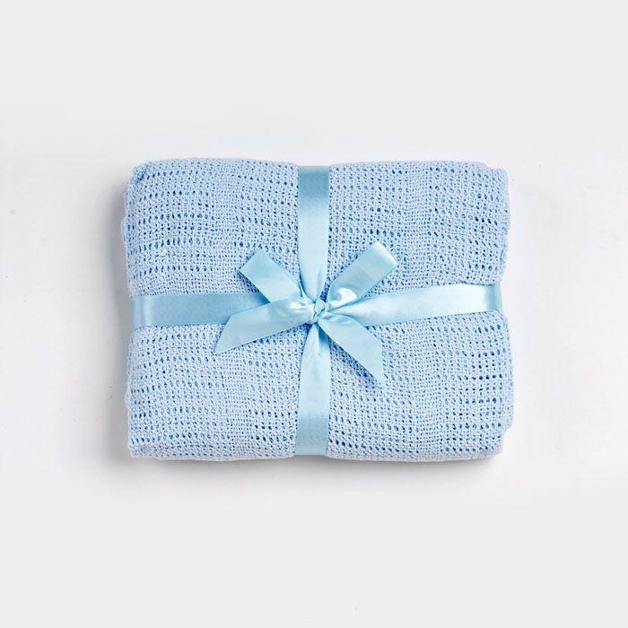 Одеяло Baby Nice детское вязанное 90х120 В ассортименте (голубой, розовый, желтый)