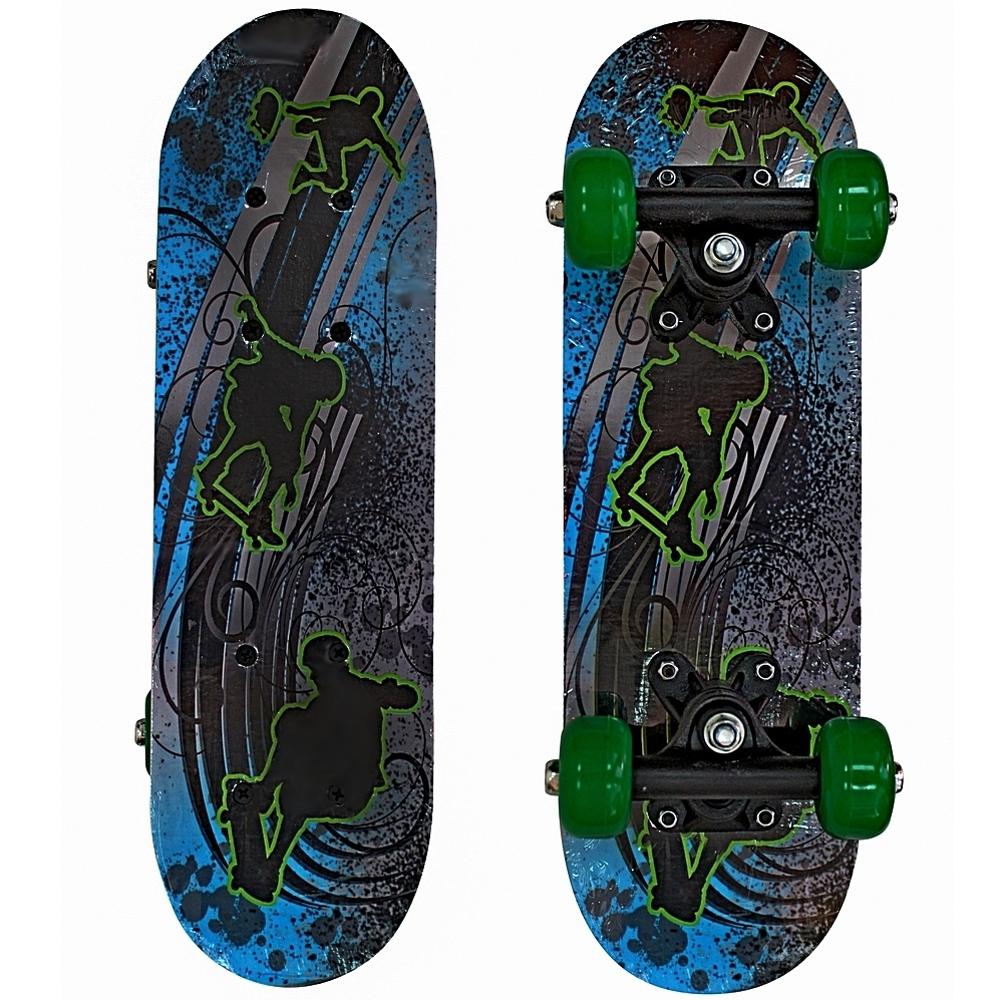 Скейтборд RT 43х13 Скейтбордисты Зеленые колеса<br>