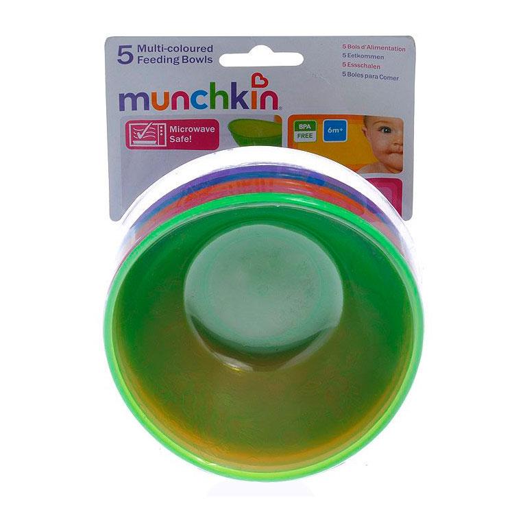 Набор детских мисок Munchkin Цветные 5 шт (с 6 мес)<br>