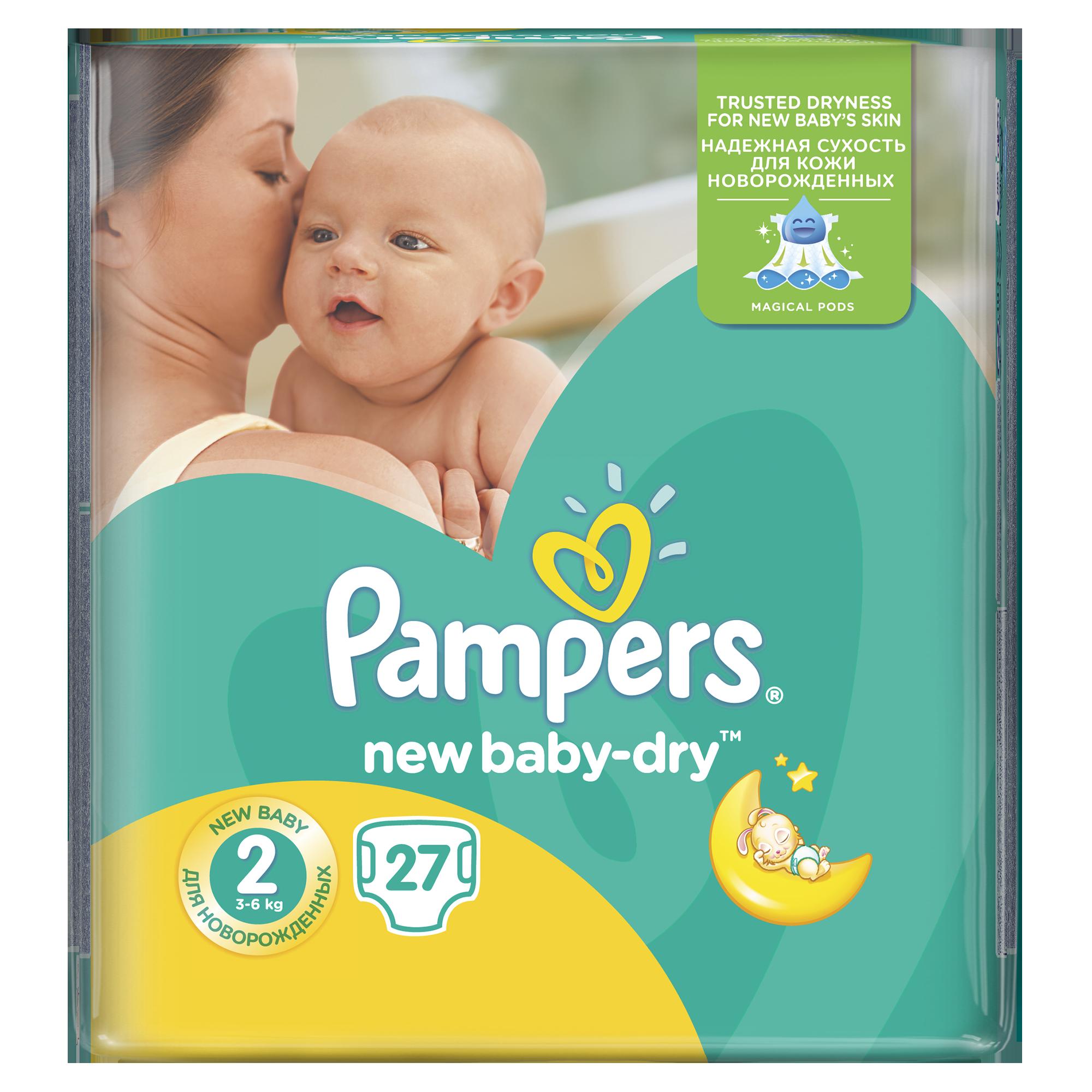 Подгузники Pampers New Baby Mini 3-6 кг (27 шт) Размер 2<br>