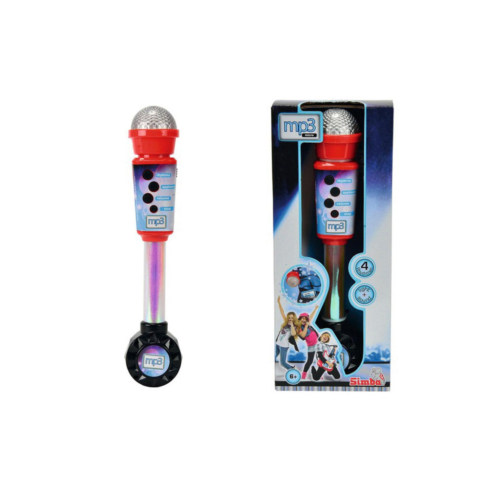 Музыкальный инструмент Simba Микрофон совместимый с mp3 (4 ритма)<br>