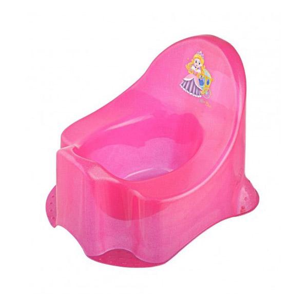 Горшок детский ОКТ Принцесса цвет - розовый (прозрачный пластик)<br>