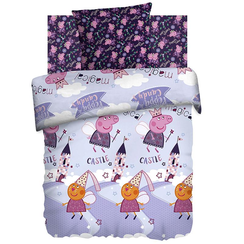 Комплект постельно белья 1,5 хлопок Свинка Пеппа Пеппа Фея 8775+8776 вид 1 наволочка 70х70
