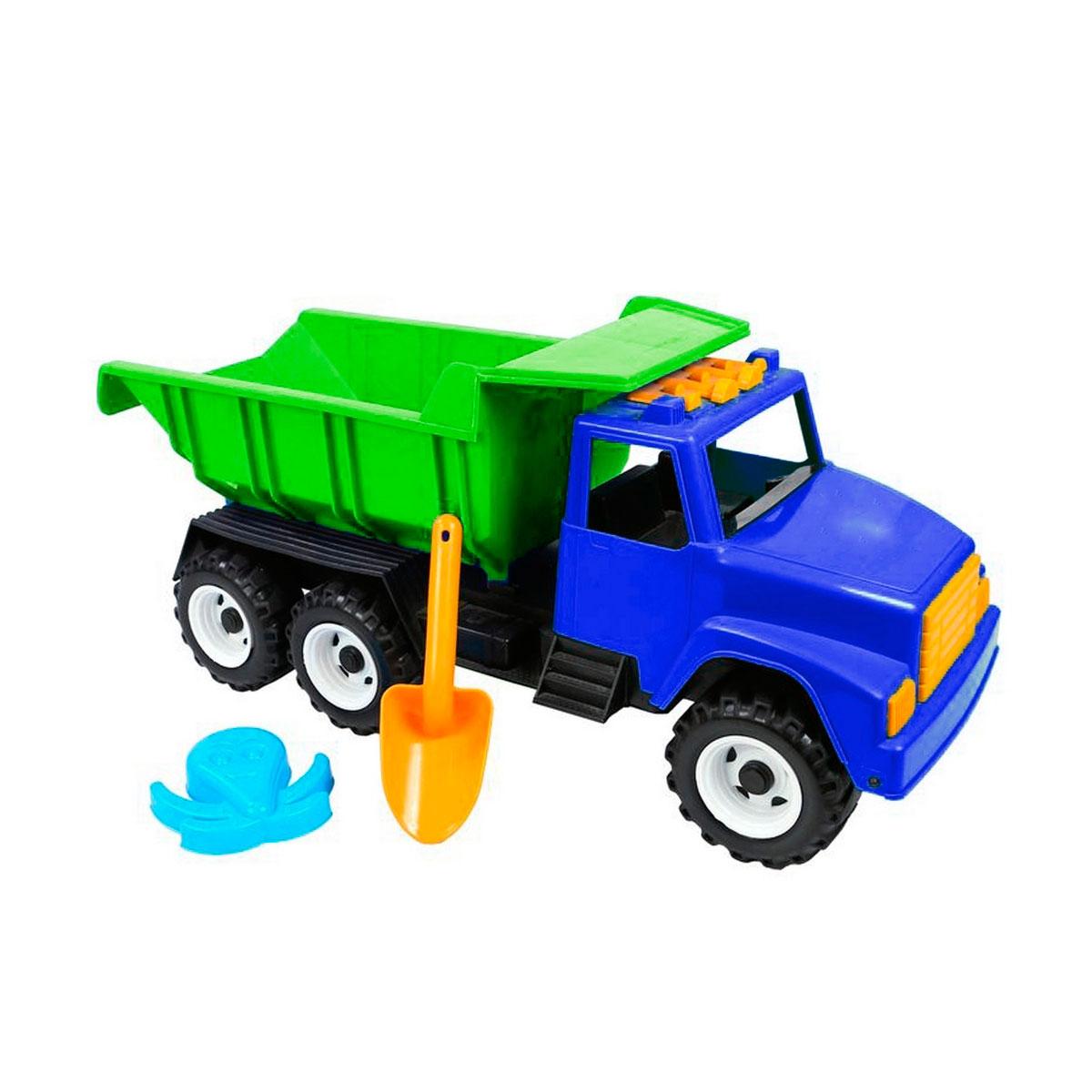 Автомобиль RT ОР184 Интер BIG Цветной лопата и пасочка Синий с зеленым<br>