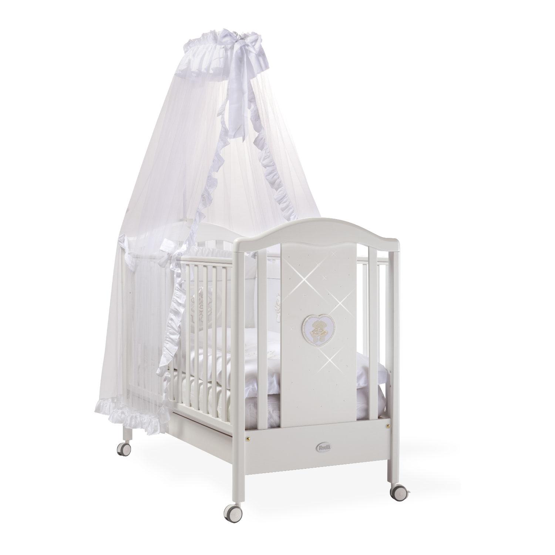Кроватка Feretti Mon Amour 125х65 классика Bianco/White<br>