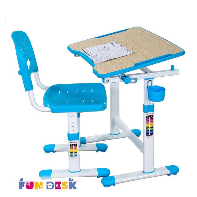 Набор мебели FunDesk PICCOLINO II парта и стул Blue<br>