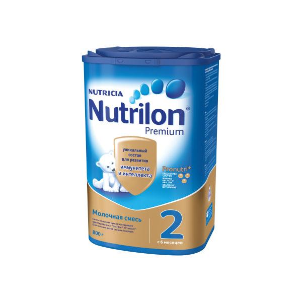 Заменитель Nutricia Nutrilon Premium 800 гр №2 (с 6 до 12 мес)<br>