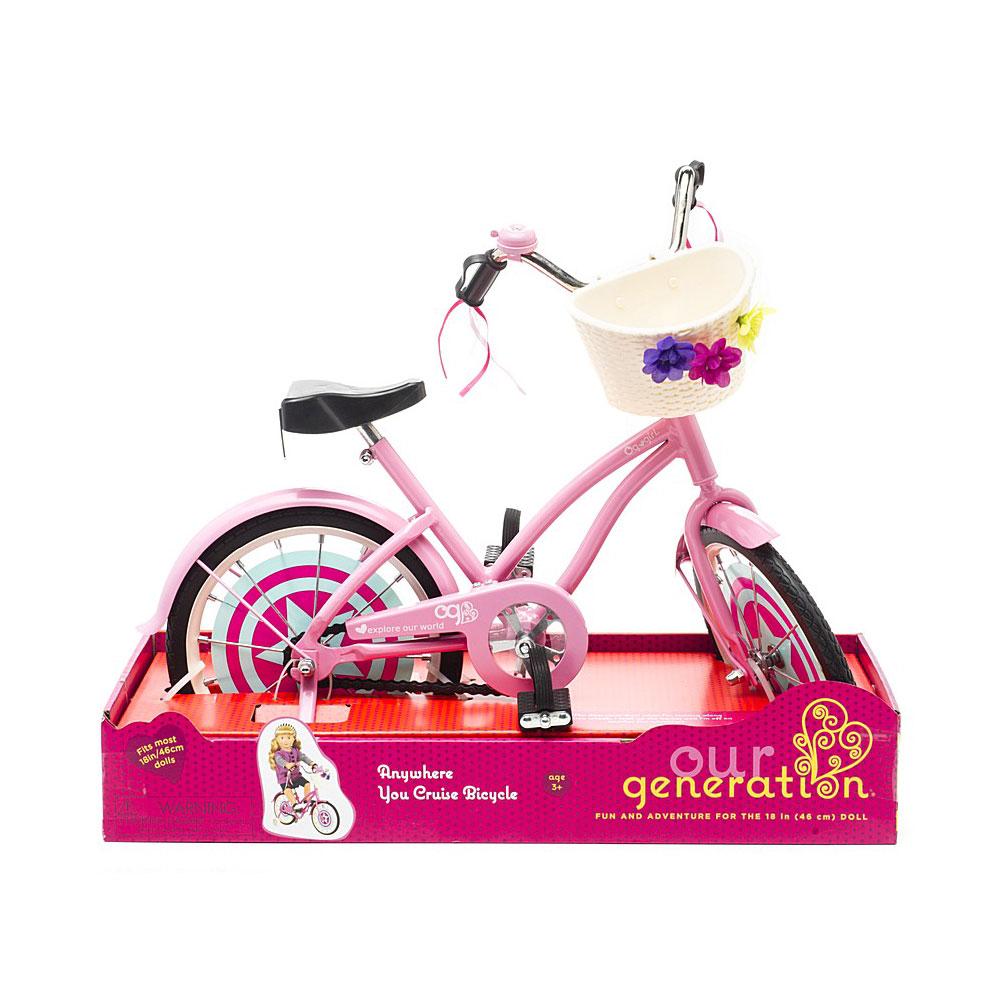 Игрушка Our Generation Велосипед с корзинкой для куклы 46см<br>