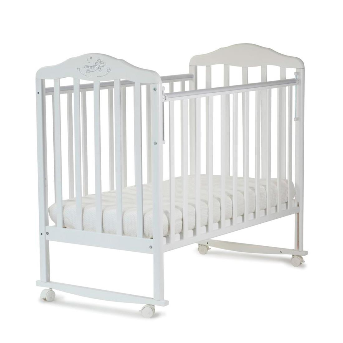 Кроватка Малика Зебра качалка Белый<br>