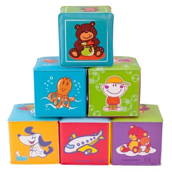 Развивающая игрушка Canpol Babies Мягкий обучающий кубик<br>