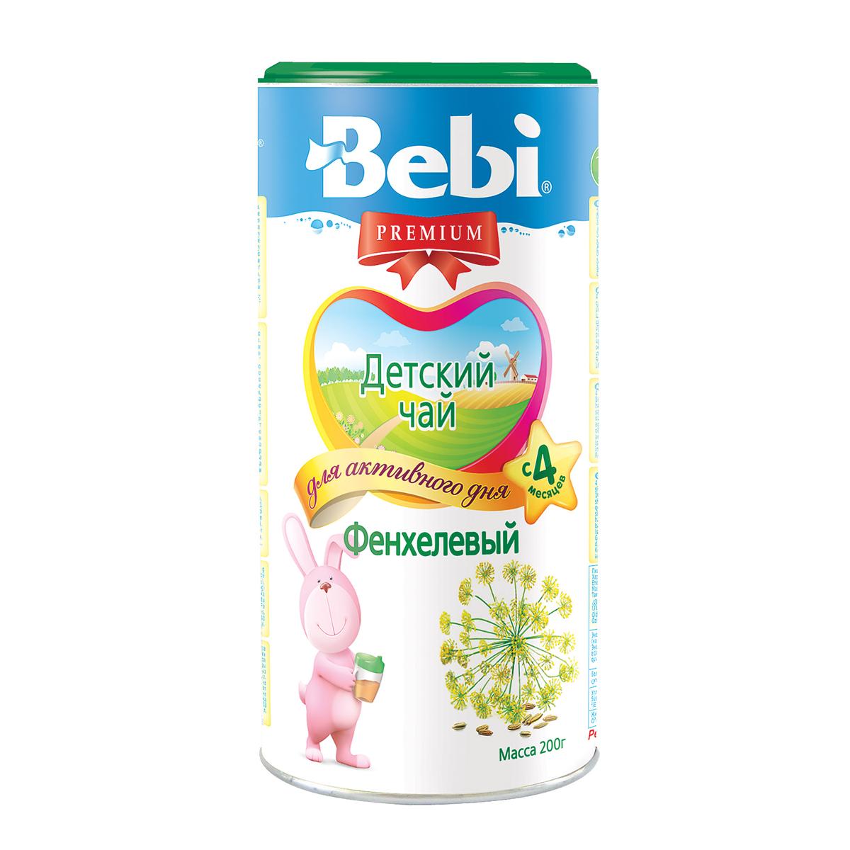 Чай детский Bebi Premium инстантный 200 гр Фенхель (с 4 мес)<br>