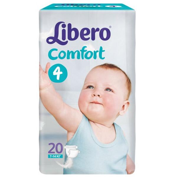 Подгузники Libero Comfort Maxi 7-14 кг (20 шт) Размер 4<br>
