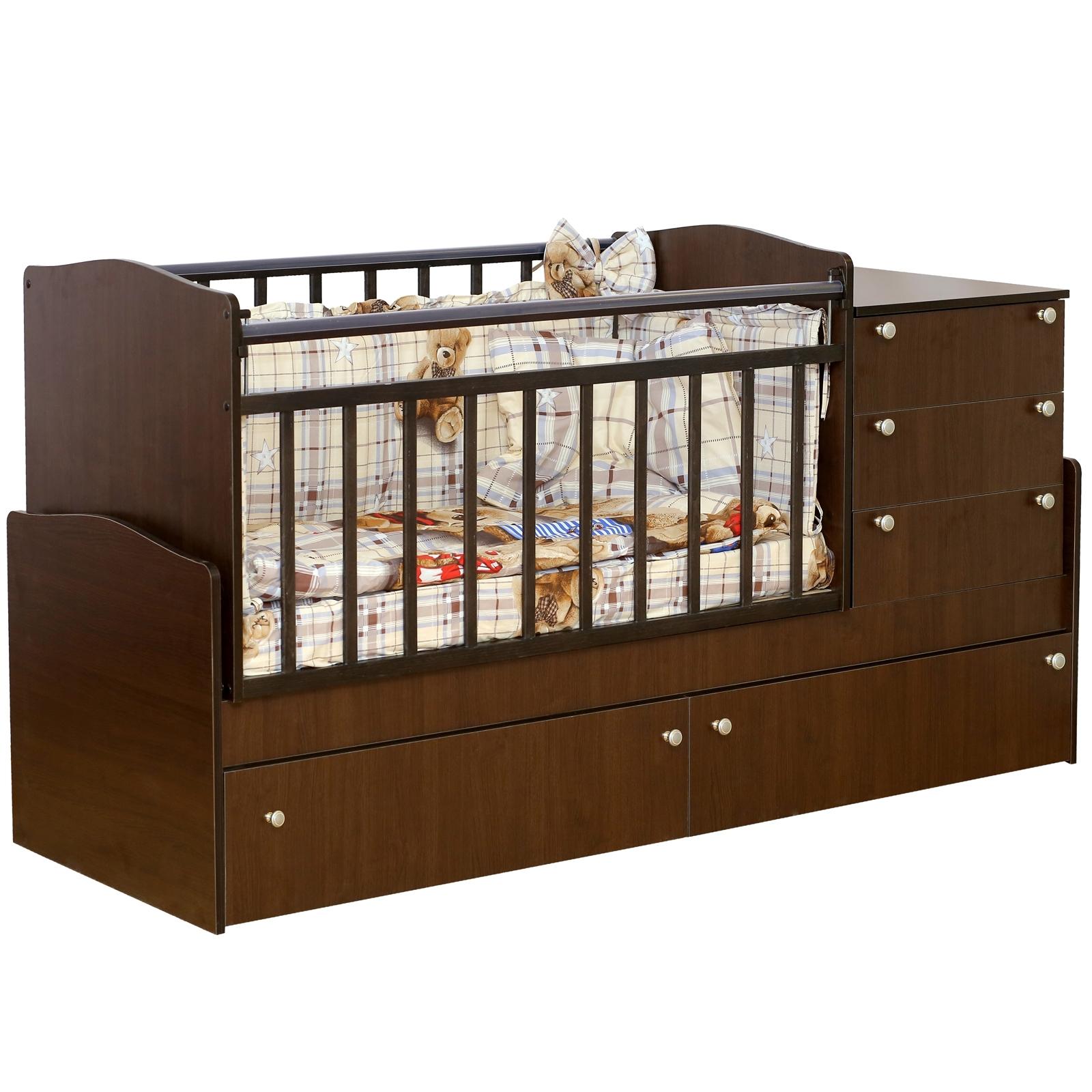 Кроватка-трансформер Daka Baby Укачай-ка 04 без механизма Венге<br>