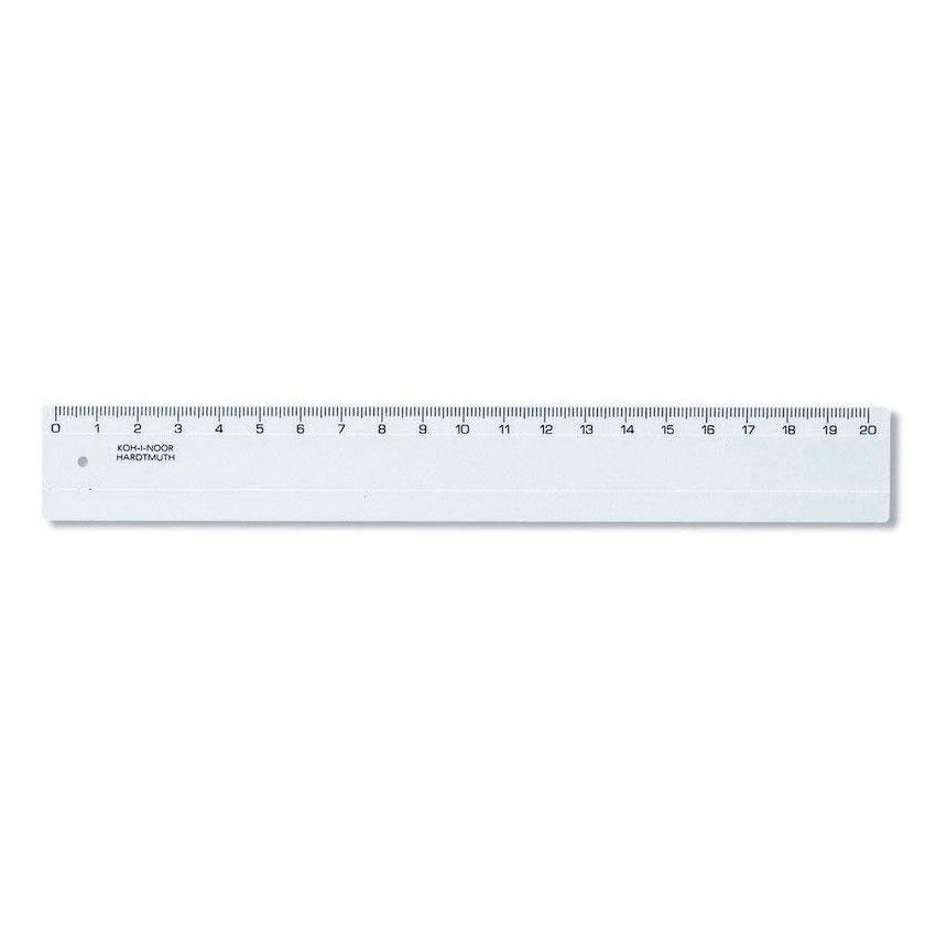 Линейка KOH-I-NOOR 20 см прозрачная<br>