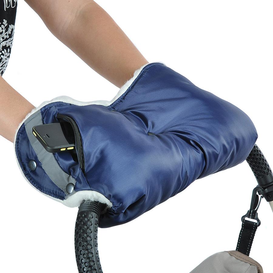 Муфта Bambola для коляски с карманом на молнии Темно-Синий<br>