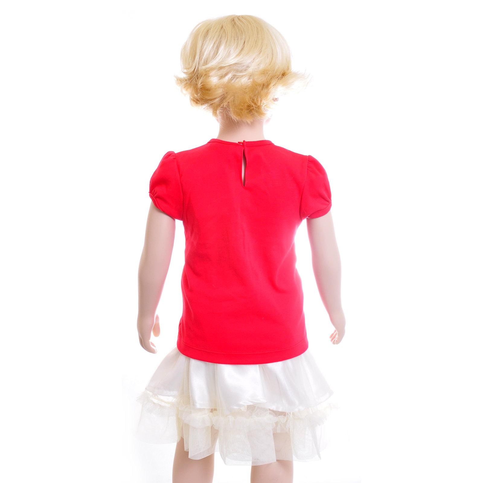 Комплект Дисней Минни футболка с коротким рукавом, светлая юбка, для девочки, красный 18 мес. (Disney (одежда))