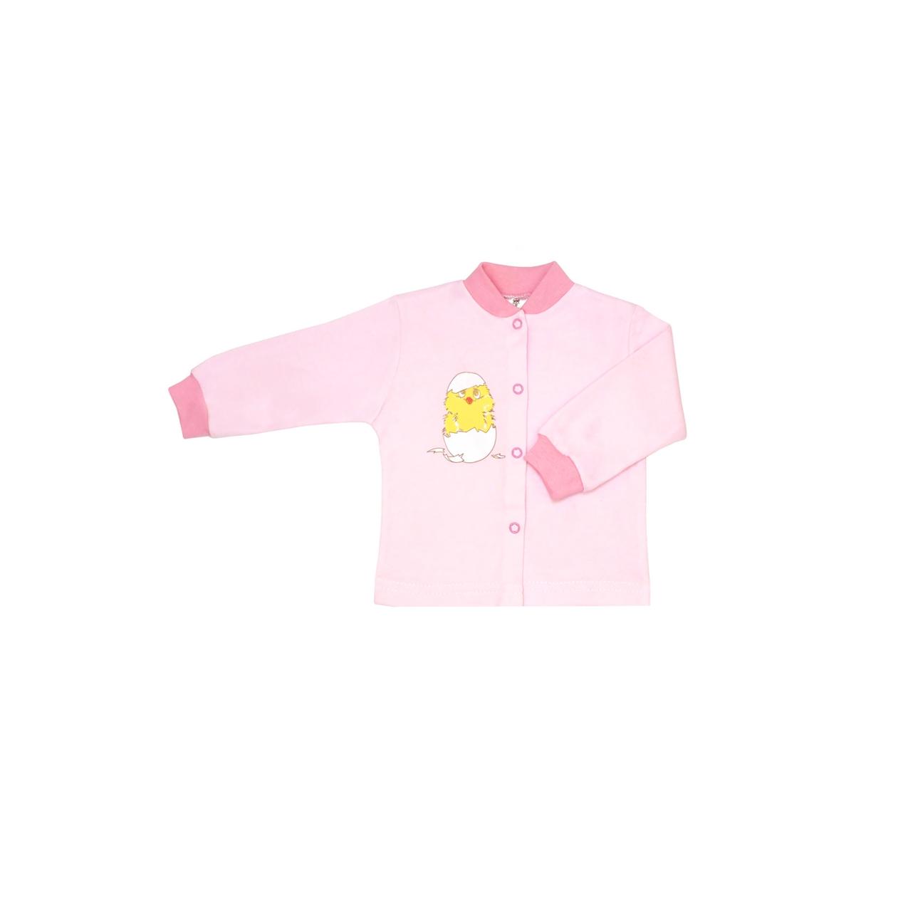 Кофточка КОТМАРКОТ для девочки, цвет розовый, Цыпленок 9-12 мес (размер 80)<br>