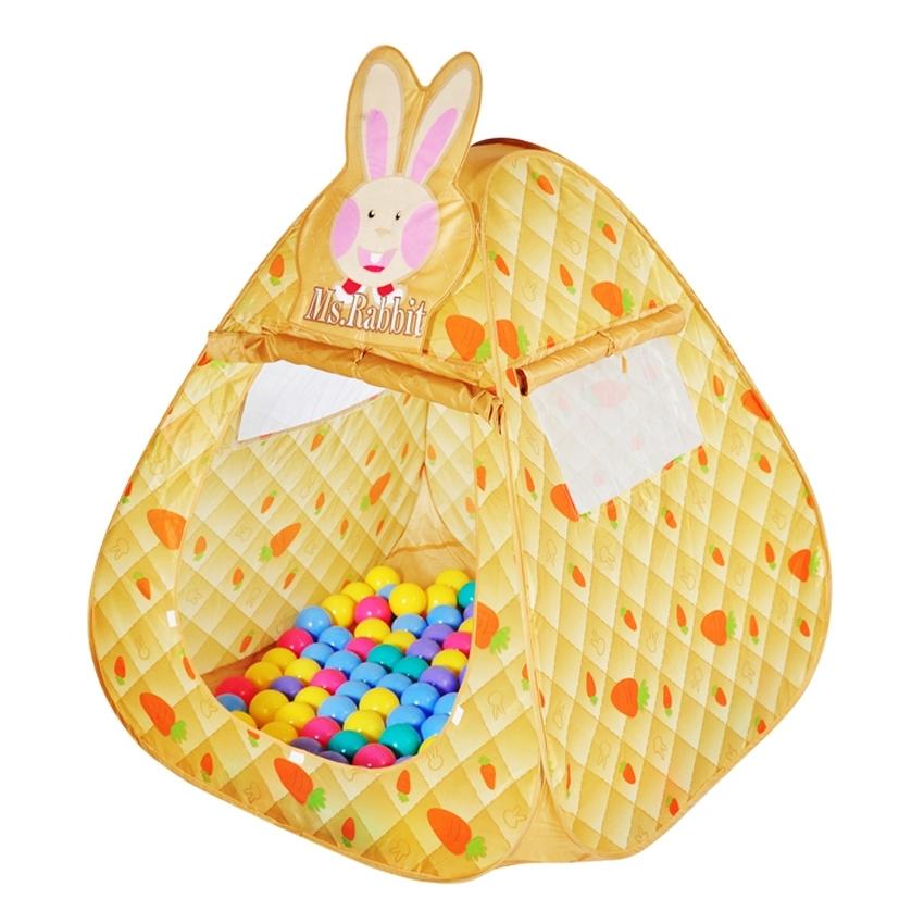 Дом + 100 шаров Ching Ching Кролик Треугольник<br>