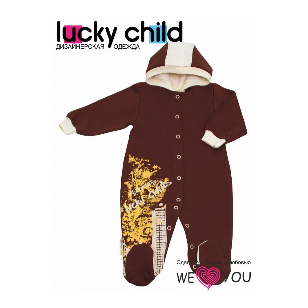 Комбинезон Lucky Child коллекция Город с капюшоном Размер 80<br>