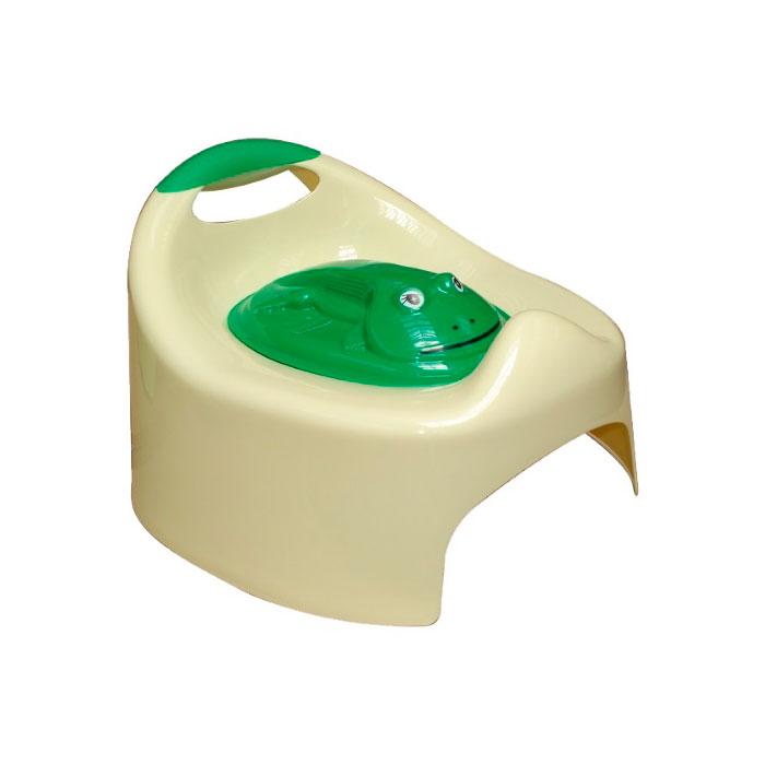 Горшок ArtGos Лягушка с крышкой (желтый)<br>