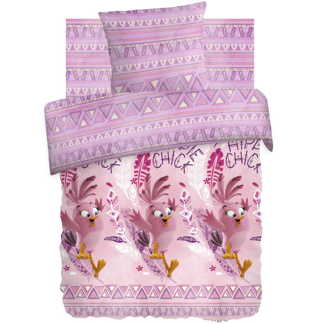 Комплект постельного белья детский 1,5 бязь Непоседа Angry Birds с наволочкой 70х70 Стелла<br>
