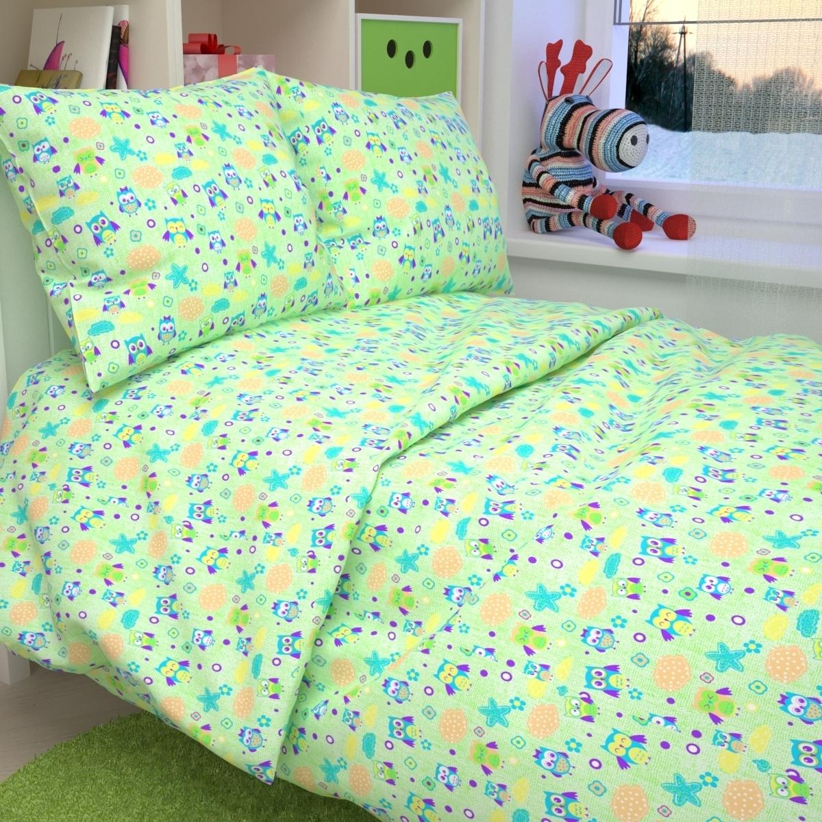 Комплект постельного белья детский Letto в кроватку BG-42<br>